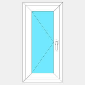 поворотная створка окна