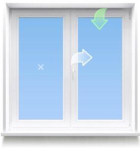 Поворотно-откидная створка окна