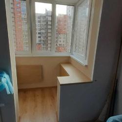 теплый балкон объединенный с комнатой